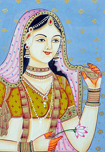 mughal-empress-miniature-painting-dpa-bdr-38